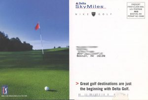 Delta postcard direct mail back of card